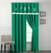 Martha Emerald Embroidered Curtain Set