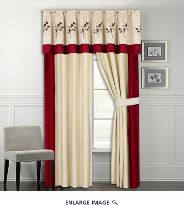 Summit Embroidered Curtain Set