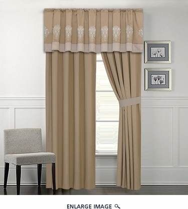 Mayden Taupe Curtain Set