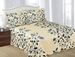 Medallion / Leaf Print Reversable Quilt Set Queen