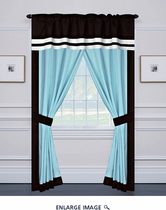 Messina Curtain Set w/ Valance/ Tiebacks / Sheers