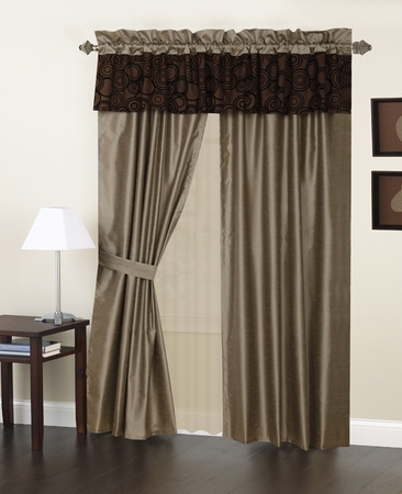 Metro  Curtain Set w/ Tassels / Sheers