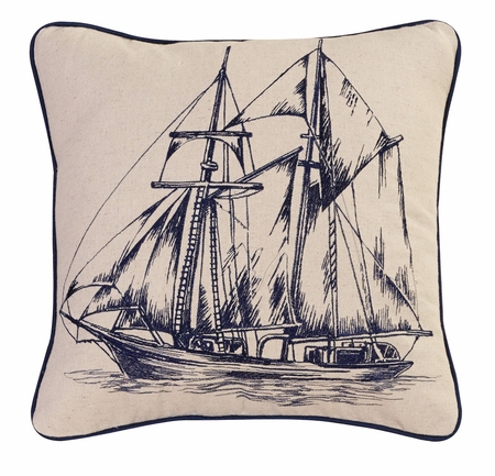 Nautical Decorative Square Throw Pillow 18