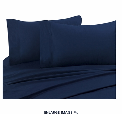 Navy 300 Thread Count Cotton Sheet Set Queen
