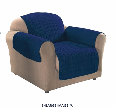 Navy Blue Micro Suede Chair Protector