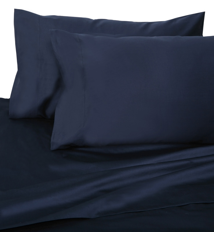 Navy Hotel 600 Thread Count Cotton Sateen Pillowcases King