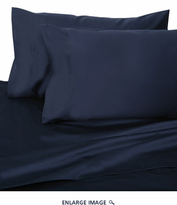 Navy Hotel 600 Thread Count Cotton Sateen Sheet Set Full