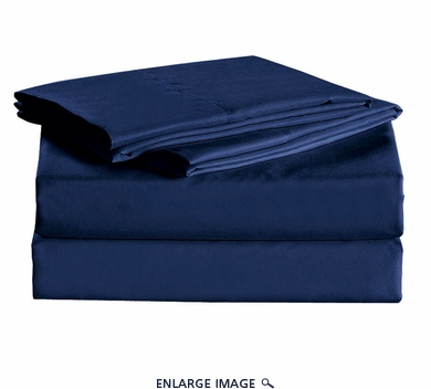 Navy Micro Fiber 1600TC Sheet Set Twin