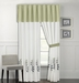 Olney Leaf Embroidered Curtain Set