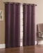 Pair of Jessica Purple Faux Silk Window Curtain Panels w/Grommets