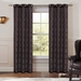 Pair of Perla Magenta/Black Jacquard Window Curtain Panels w/Grommets