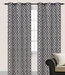 Pair of Steven Silver Flocking Window Curtain Panels w/Grommets