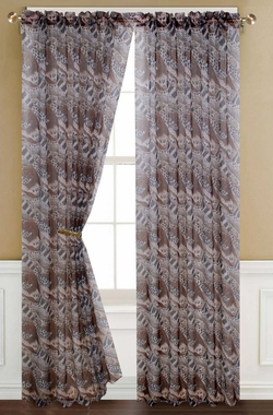 Pair of Tiger Sheer Window Curtain Panels