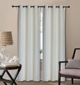 Pair of Waverly Ivory Jacquard Blackout Window Curtain Panels w/Grommets