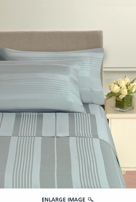 Pavillion Blue Mist 500 Thread Count Cotton Sheet Set Queen