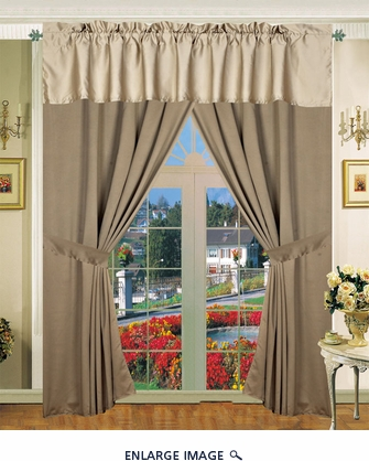 Pescia Curtain Set w/ Valance/ Tiebacks / Sheers
