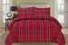 Plaid Red Down Alternative Comforter Set King