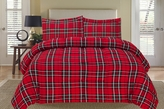 Plaid Red Down Alternative Comforter Set Twin