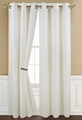 Poly Dolly Beige Grommet Window Curtain Panel