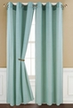 Poly Dolly Sage Grommet Window Curtain Panel