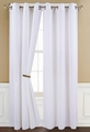 Poly Dolly White Grommet Window Curtain Panel