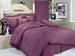 Purple Lexington Cotton Stripe Sateen Sheet Set Cal King