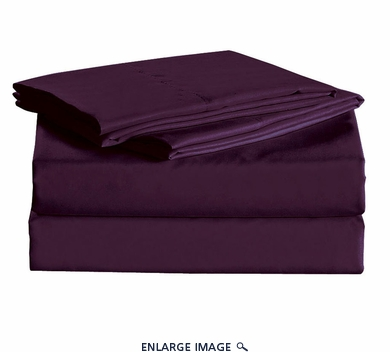 Purple Micro Fiber 1600TC Sheet Set Twin