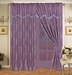 Purple Wave Curtain Set w/ Valance/Sheer/Tassels