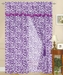 Purple Zebra Faux Fur Curtain Set Purple w/ Valance/Sheer/Tassels