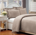 Queen Chateau Gray 500 Thread Count Cotton Check Dots Duvet Cover Set