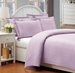 Queen Lavender 500 Thread Count Cotton Check Dots Duvet Cover Set