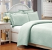 Queen Pale Blue 500 Thread Count Cotton Check Dots Duvet Cover Set
