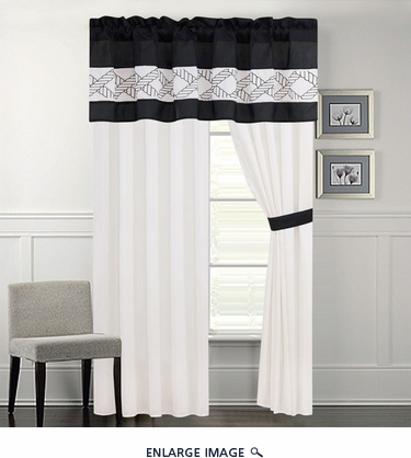Randi Black and White Curtain Set