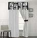 Rianna Black and White Curtain Set