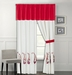 Richwood Red and White Curtain Set