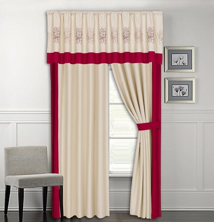 Roslyn Applique Curtain Set