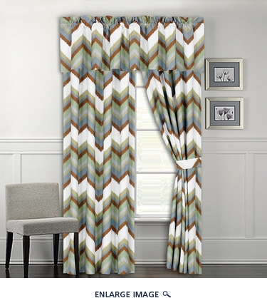 Roswell Wave Print Curtain Set
