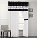 Rozlynn Black and White Curtain Set