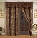 Safari Brown Micro Suede Curtain Set