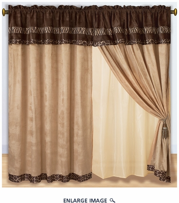 Safari Micro Suede Curtain Set
