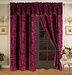 Safari Pink and Black Micro Suede Curtain Set