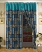 Safari Turquoise Micro Suede Curtain Set