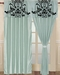 Salma Aqua Blue and Black Curtain Set