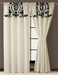 Salma Black and White Curtain Set