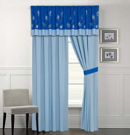 Salzer Blue Curtain Set