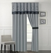 Sangamon Charcoal and Gray Curtain Set