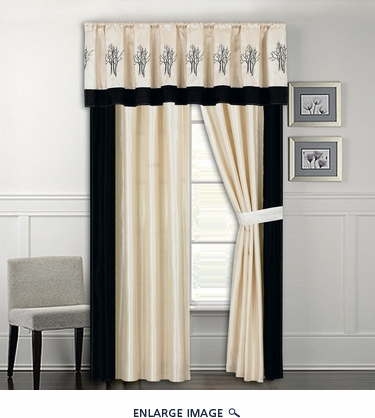 Sanger Embroidered Curtain Set