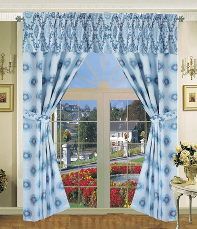 Santa Fe Jacquard Curtain Set
