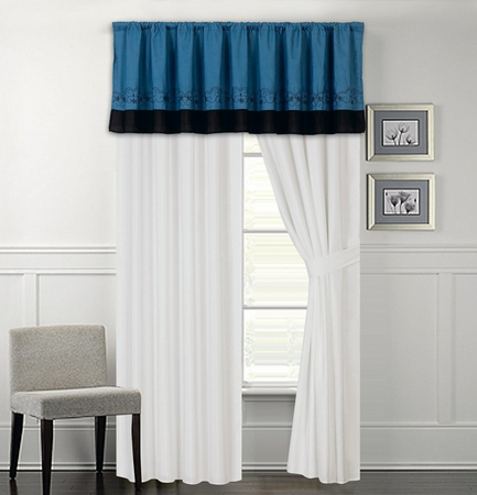 Sartor Embroidered Curtain Set