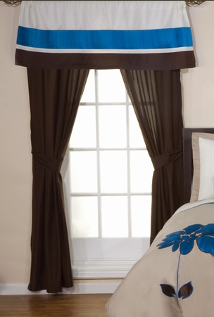 Selma Curtain Set w/ Valance/ Tiebacks / Sheers